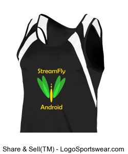 Adult Wicking Tank with Shoulder Insert Design Zoom